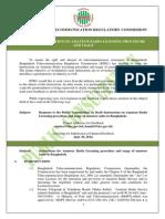 Public Consultation on Amateur Radio Licensing Procedure and Usage in Bangladesh.