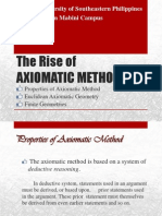 The Rise of Axiomatic Method