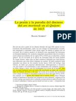 Ars Moriendi Em Quijote.