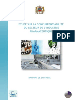 Etude Concurrence Industrie Pharma