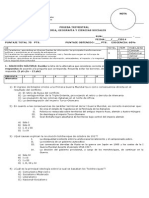 Prueba Trimestral - Primero Medio 2014