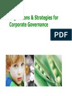 Regulations & Strategies for CG