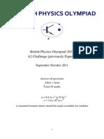 BPhO A2 Challenge 2012 QP