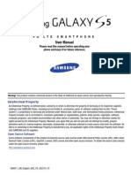 MetroPCS Samsung Galaxy S5 User Manual SM G900T1, KitKat, English