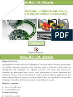Indian Automotive and Industrial Lubricants Market