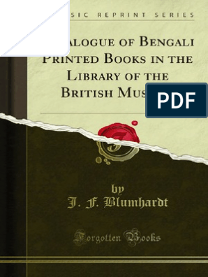 Bengali Printed Books in the Library of the British Museum | Arabic