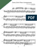 Sherlock- Theme Solo Piano Arrangement