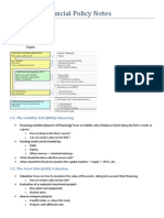 Corporate Financial Policy Notes