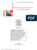 Manual on Meat Inspection for Developing Countries