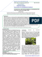Phytochemical Pharmacognostical and Physicochemical Standardization of Peperomia Pellucida (l.) Hbk.