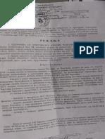 Rešenje opštine Čajetina o rušenju