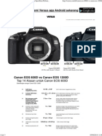 Canon EOS 600D vs Canon EOS 1200D - Kamera Spesifikasi Perbandingan