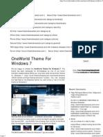 OneWorld Theme for Windows 7