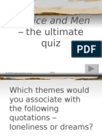 Of Mice and Men - Picture Quiz