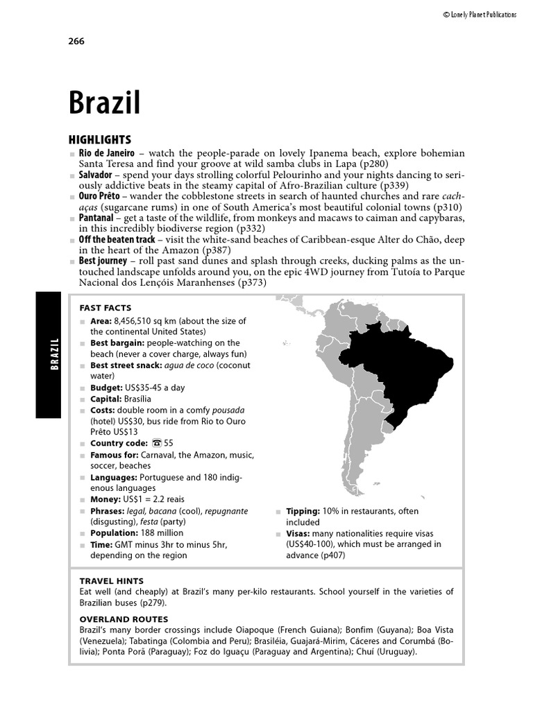 5aa8f22d14c Lonely Planet - South America on a Shoestring - Brazil - 2007
