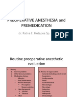 Preoperative Anesthesia and Premedication