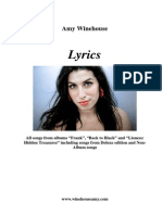 Amy Winehouse Lyrics