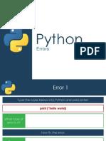 Errors - Python