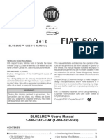 FIAT 500 BlueMe User Manual