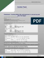 Cheatsheet Cracking WPA2 PSK With Backtrack 4, Aircrack-ng and John the Ripper