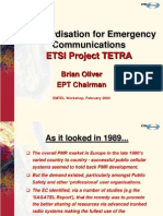 EMTEL_Emergency Communications and Standards - ETSI Project TETRA