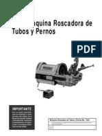 Manual de Operacion Roscadora Ridgid 1224