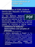 Protection of Minorities in Ethiopia