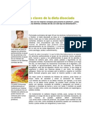 Grupo de alimentos olivas dieta disociada 10 dias