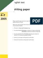 YR9 SATs - Writing 2005