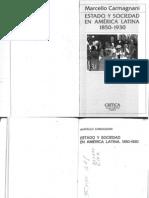Carmagnani Estado y Sociedad en America Latina 1984
