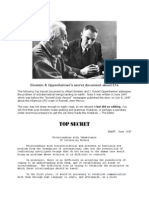 Alien NON-Disclosure Document- Dr. J. Robert Oppenheimer and Professor Albert Einstein