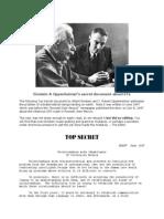 Alien NON-Disclosure Document- Dr. J. Robert Oppenheimer and Professor Albert Einstein