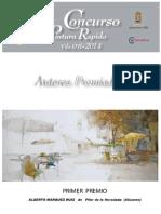 Premiados en El x Concurso de Pintura Rápida Vila d'Ibi 2014