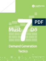7 Must Do Demand Gen Tactics