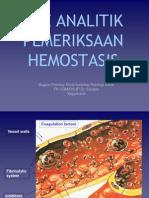 Pre Analitik Hemostasis