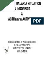 Indonesia Malaria Country Profile 2008
