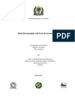 Tanzania Basic Demographic and Socio-Economic Profile - 2014