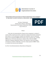 The Internationalization of Human Resource Management in the Host Nation Context & Strategic Approach of Ihrm
