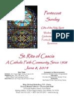 St. Rita Bulletin 6/8/2014