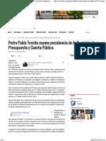10-06-14 PPT Asume Presidencia de La Comisión de Presupuesto y Cuenta Pública
