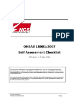 OHSAS 18001 Self Assessment Checklist(1)