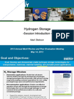 2013 DOE H2 Storage Introduction