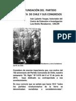 Sobre La Fundación Del Pc de Chile y Sus Congresos