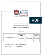 Assignment 2 English Grammar Error Analysis Mohd Halim Shah Bin Miswan