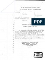 Portions of the Deposition of Matthew Selinger