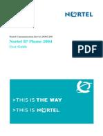 Manual Nortel Ip Phone 2004 User Guide