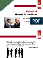 UNIDAD II, Manejo de Conflictos