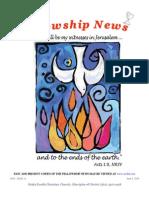 June 3, 2014 Fellowship News