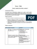 Descriptor Curso Autocuidado y Manejo Del Estres Laboral