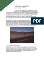Características Climáticas de Chile